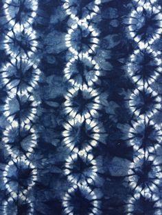 Indigo Shibori Fabric Hand Dyed Fabric by CapeCodShibori on Etsy