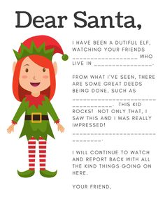 Elf On The Shelf Letters - Mommysavers With Elf On The Shelf Arrival Letter Template - Best Professional Templates The Elf, Elf On The Shelf, Goodbye Letter, Letter Templates Free, Printable Letters, Kid Rock, Santa Letter, Get Excited, Dear Santa