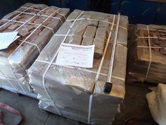 Поставка 415-2 29.06.2016 речного камня и набора брусчатки в д. Подпорино Московской обл. 20 тонн.