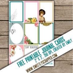 Sweetly Scrapped: Free Printable Journal Cards