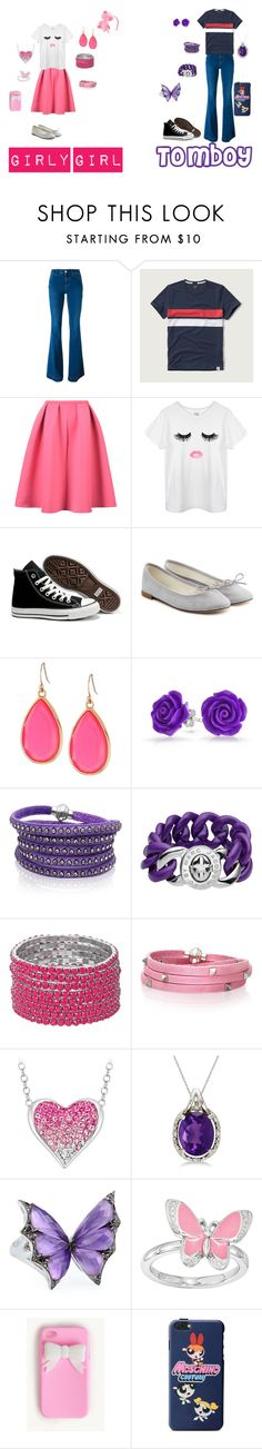 """""""Girly Girl vs. Tomboy: Preppy Edition"""" by sierra-ivy on Polyvore featuring STELLA McCARTNEY, Abercrombie & Fitch, Converse, Repetto, Kate Spade, Bling Jewelry, Sif Jakobs Jewellery, Marc by Marc Jacobs, Allurez and Stephen Webster"""