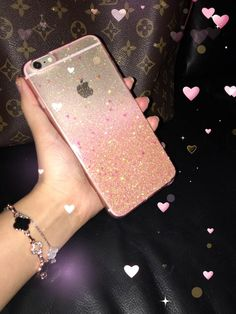 Rose Gold Ombre Glitters Handmade Sparkle Fading Transparent Phone Case 5/5s/6/6s/6s plus for iPhone & Samsung s5/s6/s6 edge+ Clear by HandmadebyTran on Etsy https://www.etsy.com/listing/251793077/rose-gold-ombre-glitters-handmade