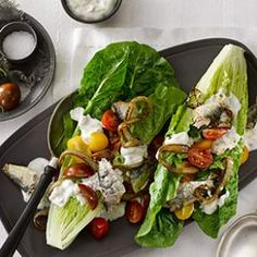 Romaine Wedges with Sardines & Caramelized Onions Recipe (Sardines are heart-healthy and packed with omega-3s)