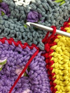 Crochet Zipper Join : about Joining crochet squares on Pinterest Granny squares, Joining ...