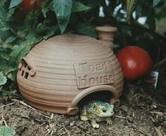 toad houses for the garden | ... or ground level birdbath, and shady shelter...such as your Toad House
