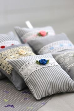 Little grey lavender cushions, £4.90