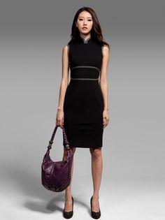 Shanghai Tang, mandarin collar shift dress - cheongsam style