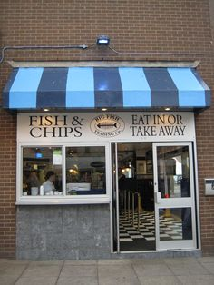 Fish and chip shop. So simplistic but so tasty.