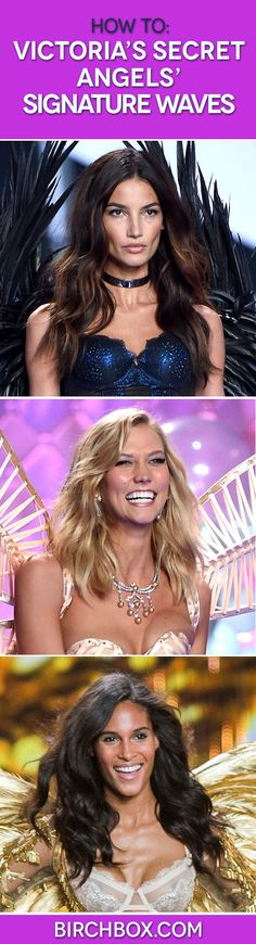 Did you watch the 2014 #VSFashionShow? Here's how to recreate the effortless waves seen on the runway.  (Photos via Getty Images)