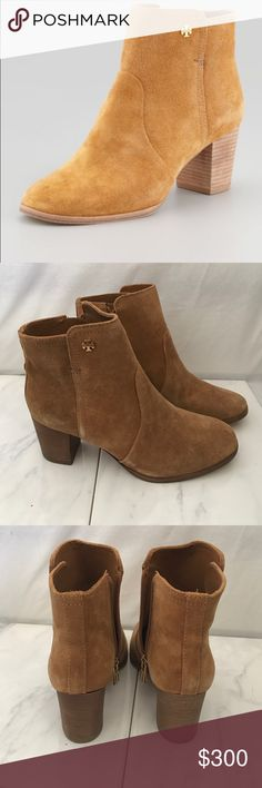 Tory Burch Sabe boots Never worn! Sabe booties by Tory Burch. Stock photo shows truer color. Tory Burch Shoes Ankle Boots & Booties