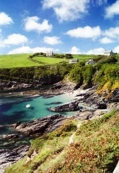 Prussia Cove, Cornwall, UK,