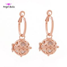 Wholesale 25Pcs Angel Bola Newest Fashion Jewelry Plated Dangel Earrings for Woman Aromatherapy Pendant Earrings EL-010