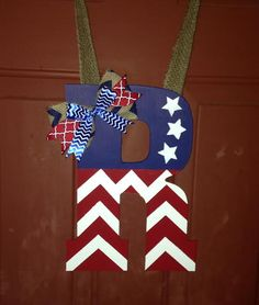 Wooden Initial Door Hanger. by LECreations14 on Etsy