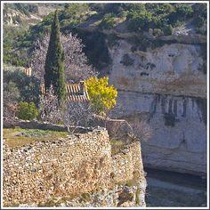 Rita Crane Photography: Stone villages / France / medieval village / Languedoc-Roussillon / Cathars / Glimpse of Minerve, France