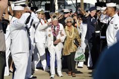 SURVIVOR'S SALUTE A survivor of the Dec. 7, 1941, attack on Pearl Harbor renders a salute during the 72nd Anniversary Pearl Harbor Day Commemoration ceremony at the Pearl Harbor Visitor Center in Pearl Harbor, Hawaii, Dec. 7, 2013. More than 2,500 guests, including Pearl Harbor survivors and other veterans, attended the ceremony hosted by the National Park Service and U.S. Navy at the World War II Valor in the Pacific National Monument. U.S. Navy photo by Seaman Johans Chavarro