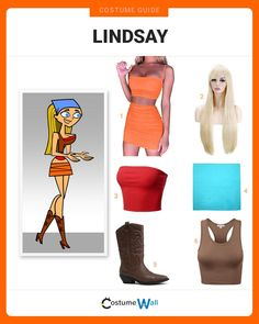 Bring Total Drama Island to life as you cosplay Lindsay and outsmart the competition, or don't. Group Halloween, Halloween Party Costumes, Halloween Cosplay, Halloween 2020, Halloween Outfits, Got Costumes, Cosplay Costumes, Costume Ideas, Character Dress Up