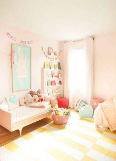 what gorgeous pink shared girl's room...