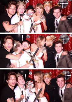 Louis, Niall, Ed, Taylor, Calvin and Austin at the after party last night 5.18.15