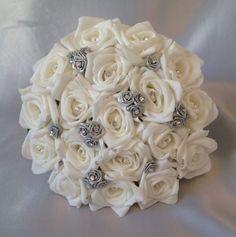 New Flowers Wedding Bouquet Bridesmaid 63 Ideas Wedding Bridesmaid Bouquets, Flower Bouquet Wedding, Bridesmaid Ideas, Boquette Wedding, Garden Wedding, Wedding Ideas, Artificial Wedding Bouquets, Prom Flowers, Silver Flowers