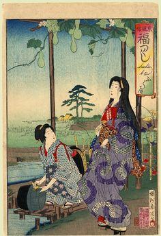 Fukube - Gourd by Toyohara Chikanobu