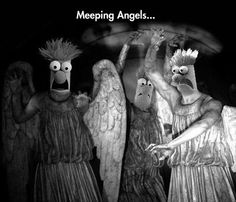 Meeping Angels - @Amanda Peterson now they aren't so scary! :P