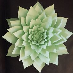 Paper Flower Template, PDF and SVG files, succulents Giant Paper Flowers, Diy Flowers, Fabric Flowers, Flower Svg, Flower Clipart, Paper Flower Templates Pdf, Paper Succulents, Fleurs Diy, Flower Center