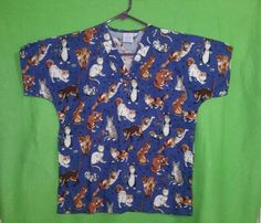 Scrub Top XS Cat design | Clothing, Shoes & Accessories, Uniforms & Work Clothing, Scrubs | eBay!