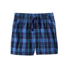 Baby Boy Jumping Beans® Plaid Shorts, Size: 12 Months, Dark Blue
