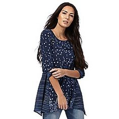 07dfa52c689 Mantaray - Navy printed tunic top Latest Fashion Design, Debenhams, Fashion  Outfits, Womens