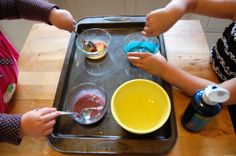 make egg tempera paint with kids