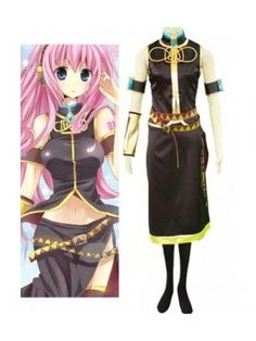 Vocaloid Megurine Luka Black Cosplay Outfits Costumes
