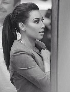 Kim Kardashian ponytail is fab!! I love it!