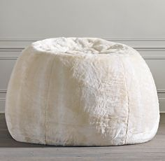 Who doesn't love to lounge on a bean bag??!! Grand Luxe Faux Fur Double Bean Bag - Arctic Fox