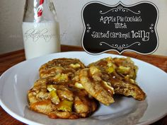 Kick off your Cookie Making Season With These Apple Pie Cookie w/a Salted Caramel Sauce! www.thekitchenwife.com