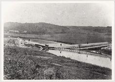Blown up Railroad Bridge at Langå 1864.