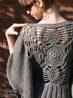 Knit/Crochet Smoke Colored Poncho