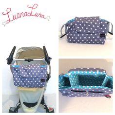 """Kinderwagentaschen - Kinderwagen-Organizer """"Sternchen"""" - ein Designerstück von LuanaLuna bei DaWanda"""