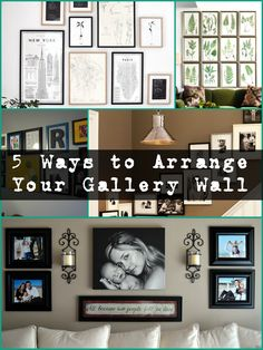 Ready to tackle a gallery wall in your home, but not sure where to start?   After you've picked out a spot, your next step is deciding how to arrange all of your pieces into something cohesive and beautiful.  Thankfully, we've got you covered!   We're broken it down into 5 main ways to can arrange a gallery wall and we're sure one of them will speak to you!