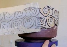 Slip and Stick: How to Use Stained Slips and Newsprint to Make Monoprints on Pottery