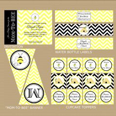 Bumble Bee Baby Shower Package Printable by GeminiCelebrations