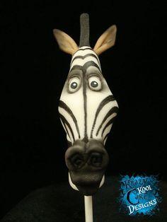Marty la cebra de Cake Topper De Madagascar