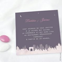 Carte Invitation Mariage Paris