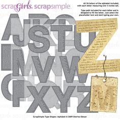 ScrapSimple Type Shapes: Alphabet