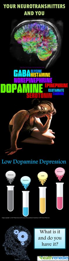 Low #dopamine #depression........ I don't know how true any of this is, but the colors are pretty.  Who knows about any of it.