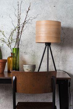 Woodland table lamp setting