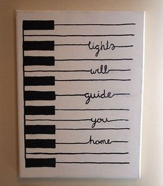 56 Best Ideas for Painting Canvas Quotes Lyrics Diy Wall - Canvas Painting Canvas Crafts, Diy Canvas, Canvas Art, Painting Canvas, Diy Painting, Wall Canvas, Music Canvas, Cute Canvas Paintings, Hand Painted Canvas