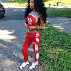 - Adidas Sweat Suit Swag Style & Fashion - #Fashion #Style #Swag #Street #Hiphop #Adidas #Casual #Sporty #Urban http://www.pinterest.com/TheHitman14/hey-ladies-swagurbanhiphop-s-f-%2B/