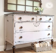 Farmhouse Dresser painted Pink! | Salvaged Inspirations