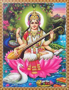 Saraswati, goddess of music
