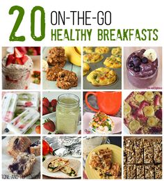 Breakfast is the most important meal of the day, and yet so many of you still are not eating it!Today I wanted to share some quick recipes that you can either throw together in a matter of minute...